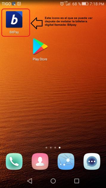 Paso 4 - Abrir la app Bitpay