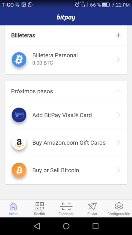 Por Dentro, Billetera Bitpay
