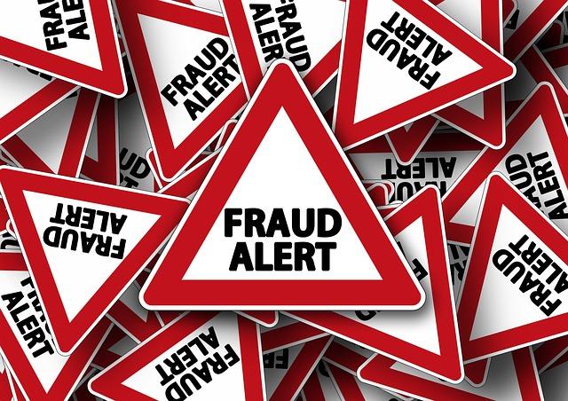 Alerta por fraude. scam