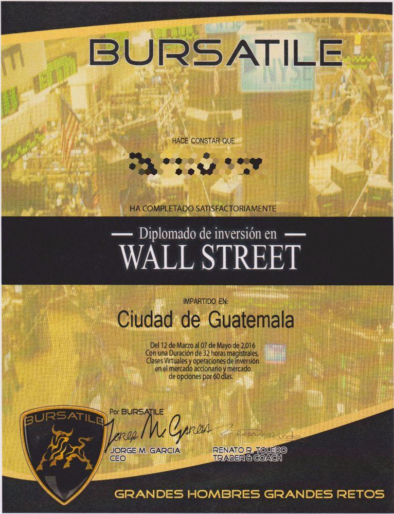 Diplomado Wall Street - Bursatile Abr2016