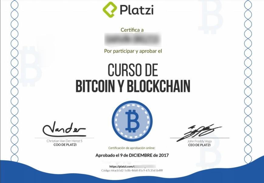 CertificacióncusoBitcoinyBlockchainenPlatzi